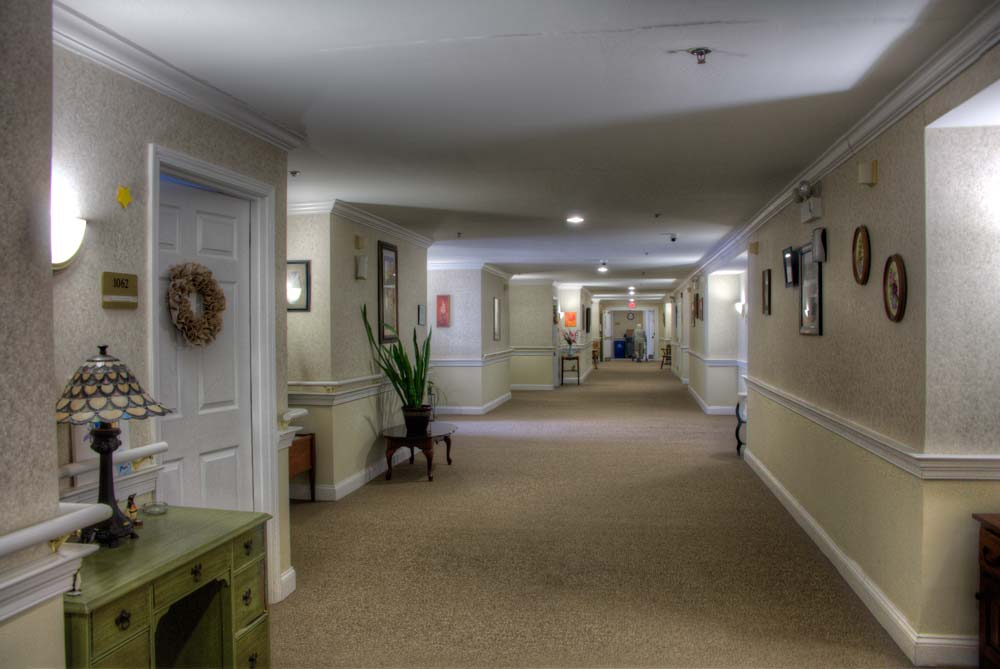 A typical corridor in the facility