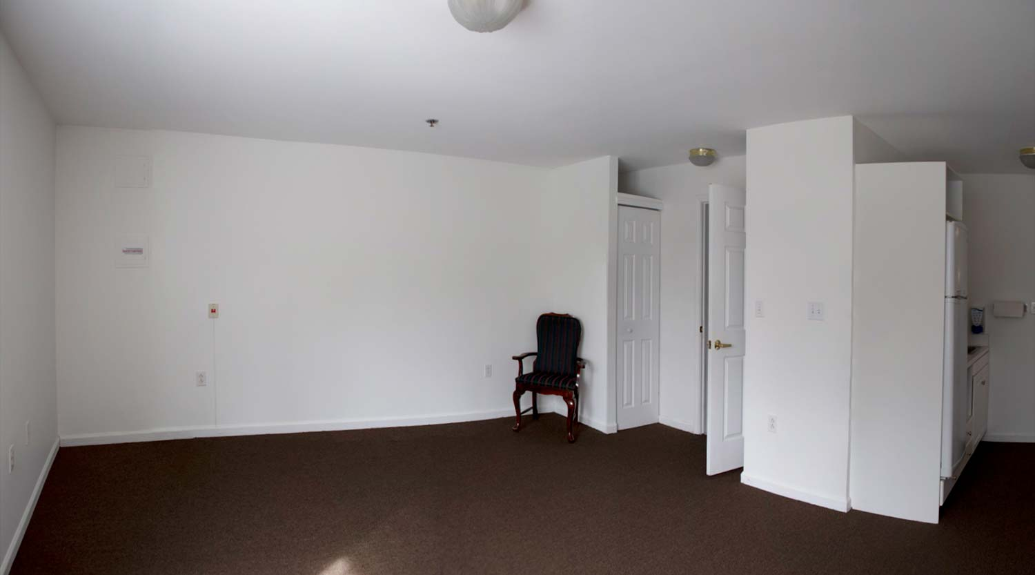 An empty apartment ready to receive a new resident.