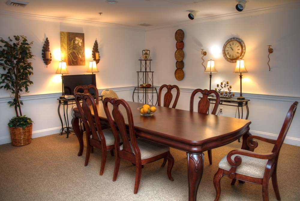 A private meeting room that is available for family use